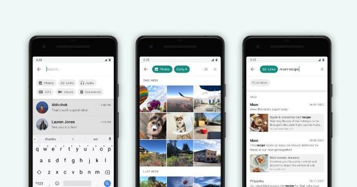 Advanced search WhatsApp Feature update