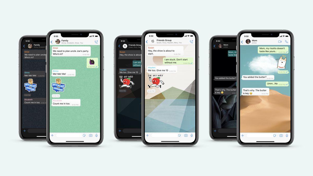 Customized wallpaper WhatsApp Feature update
