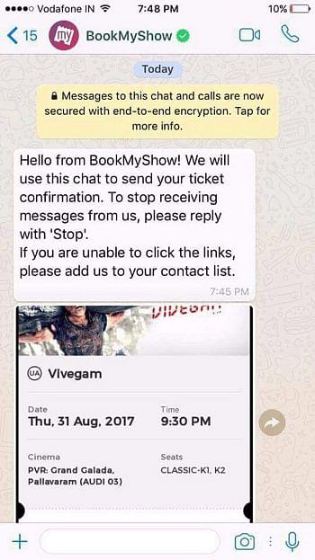 BookMyShow WhatsApp Marketing