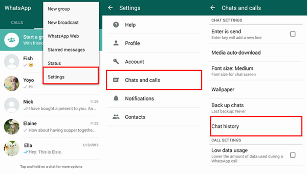 WhatsApp tricks and Tips: email chat log